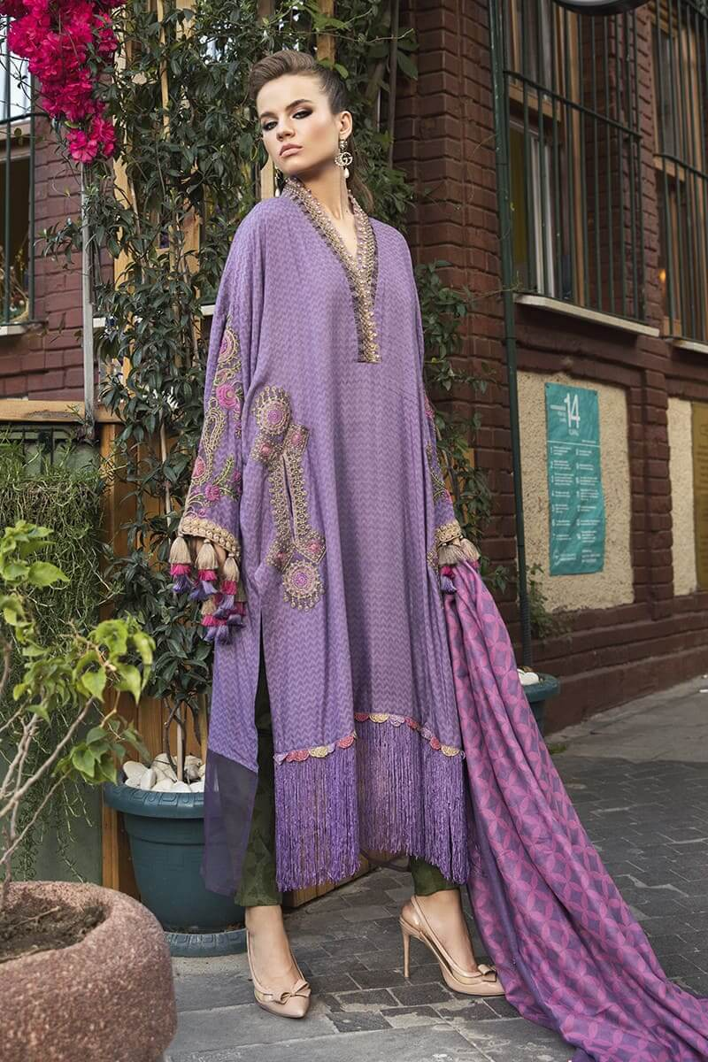 MariaB Linen Winter Collection 2020 Pakistani Dresses DL-803