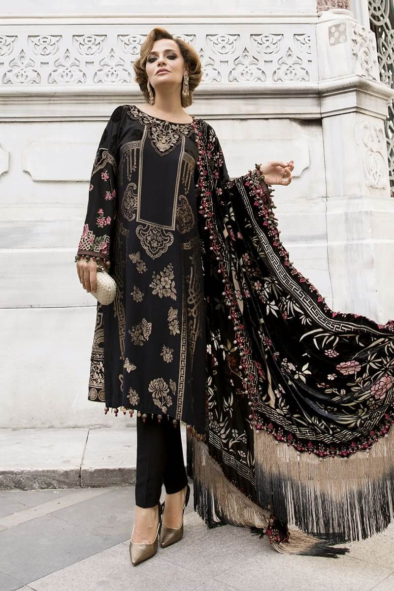 MariaB Linen Winter Collection 2020 Pakistani Dresses DL-812