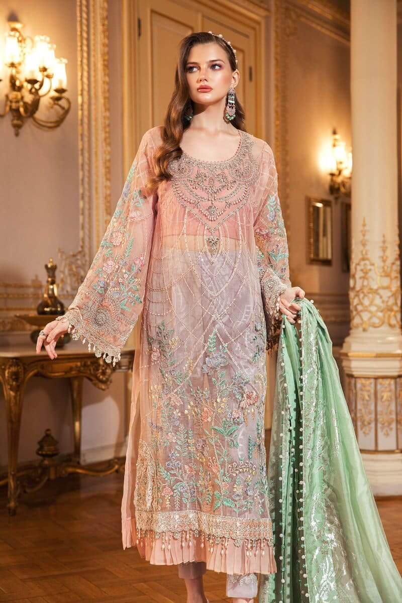 Mariab Mbroidered Wedding Collection 2020 Salwar Kameez BD-2003