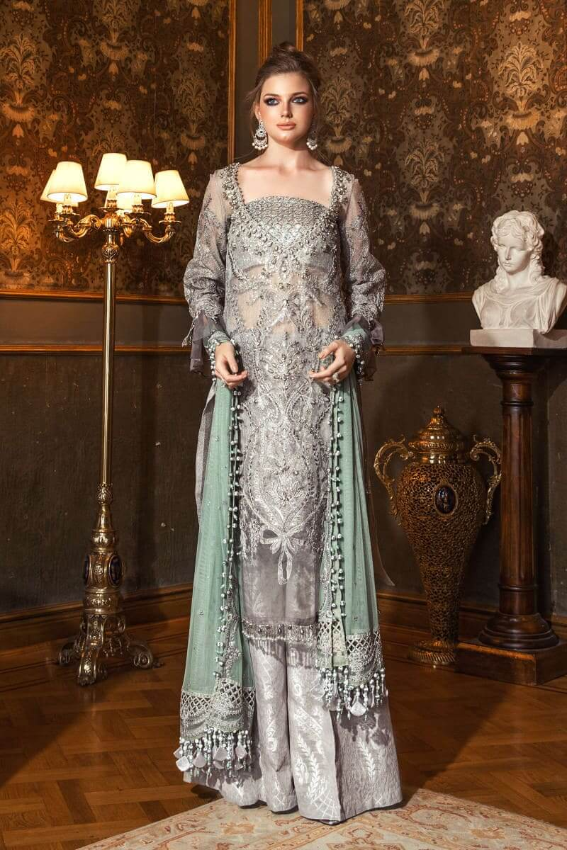 Mariab Mbroidered Wedding Collection 2020 Salwar Kameez BD-2005