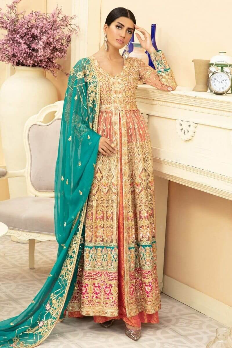 Maryam N Maria Premium Chiffon Collection 2020 PINKILE WHELITE MMD-05