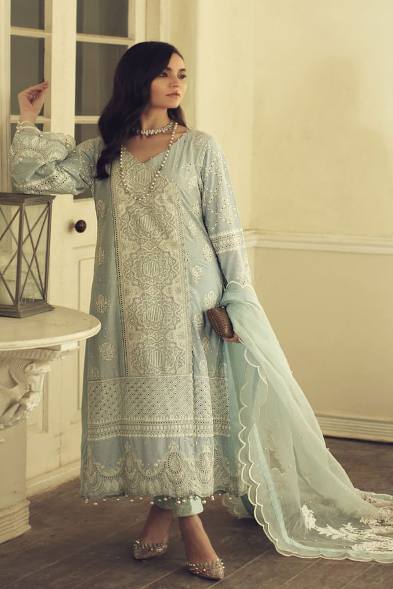 ROUCHE Chikankari Collection 2020 Pakistani Suits 01-Snowflake