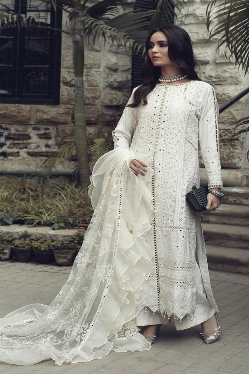 ROUCHE Chikankari Collection 2020 Pakistani Suits 04-Ivory