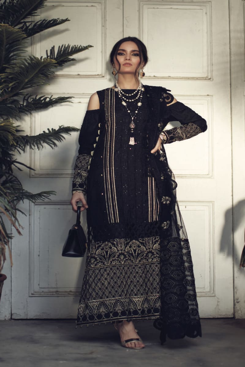 ROUCHE Chikankari Collection 2020 Pakistani Suits 05-Noir