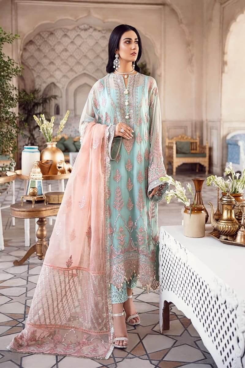Afrozeh Shehnai Wedding Collection 2020 Pakistani Suits TAAZEED