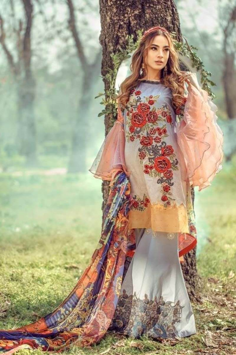 Adans Libas Floral Fantasies Premium Lawn Collection 2020 BEAUTY AND THE BEAST