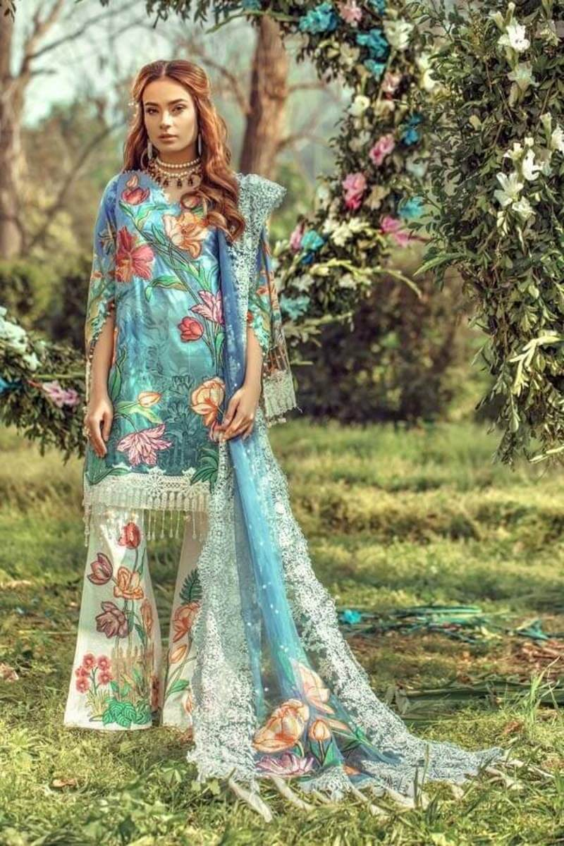 Adans Libas Floral Fantasies Premium Lawn Collection 2020 FROZEN