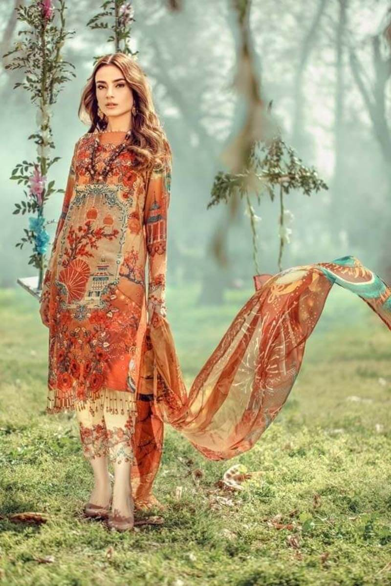 Adans Libas Floral Fantasies Premium Lawn Collection 2020 MULAN
