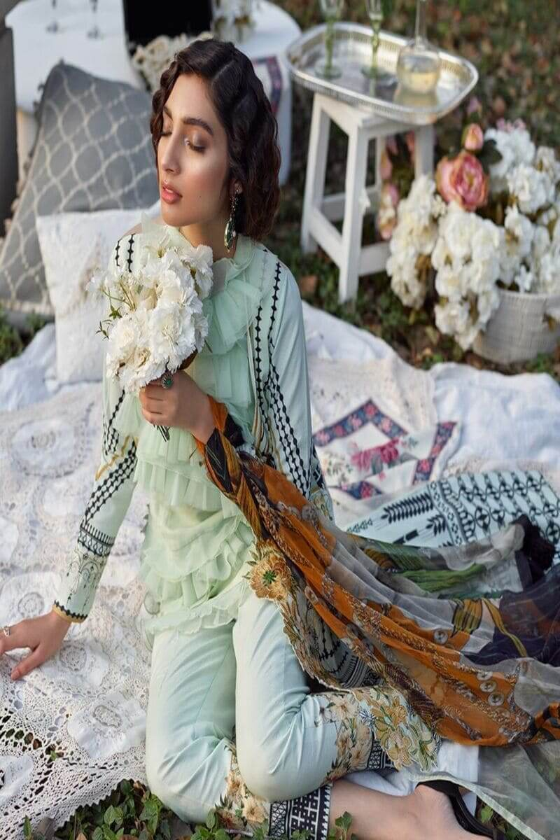 Asifa Nabeel Summer Luxury Lawn 2020 Pakistani Suits 13-D URBAN BLOOM