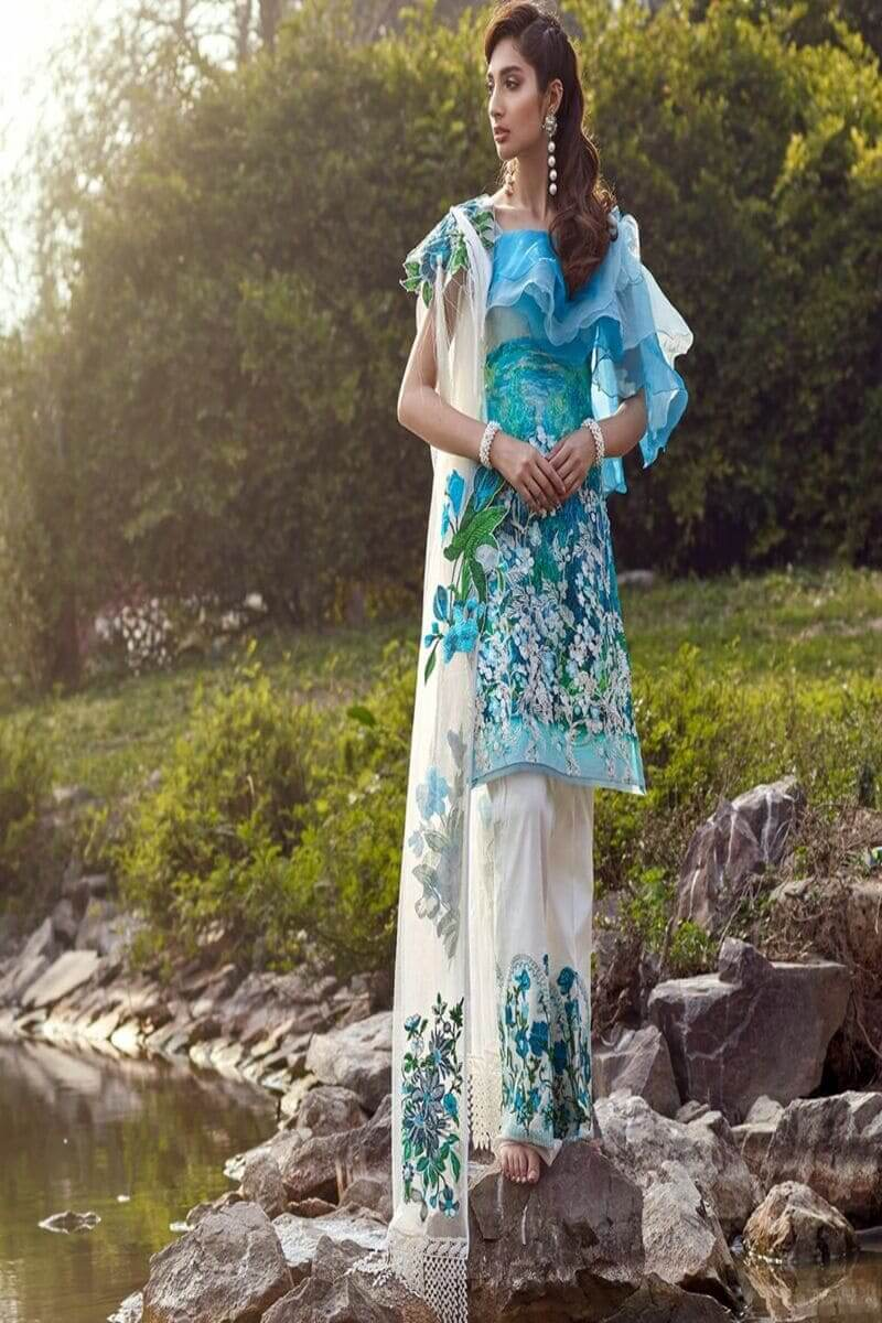 Asifa Nabeel Summer Luxury Lawn 2020 Pakistani Suits 31-D FLORESSENCE LOFT