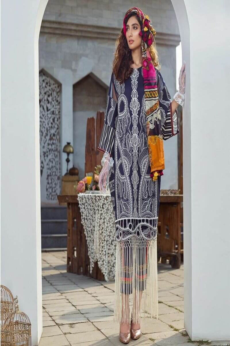 Asifa Nabeel Summer Luxury Lawn 2020 Pakistani Suits 44-C CLASSY CREATIONS
