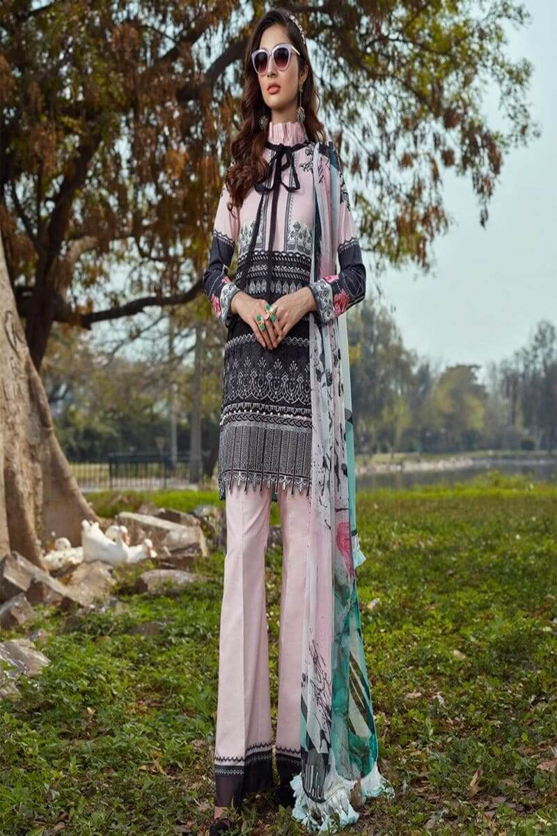 Asifa Nabeel Summer Luxury Lawn 2020 Pakistani Suits 8-E PASTEL PERFECTION
