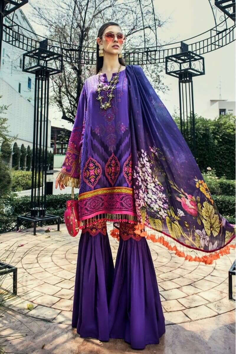 AUJ Fleur De Luxe Luxury Collection 2020 Pakistani Suits D-02