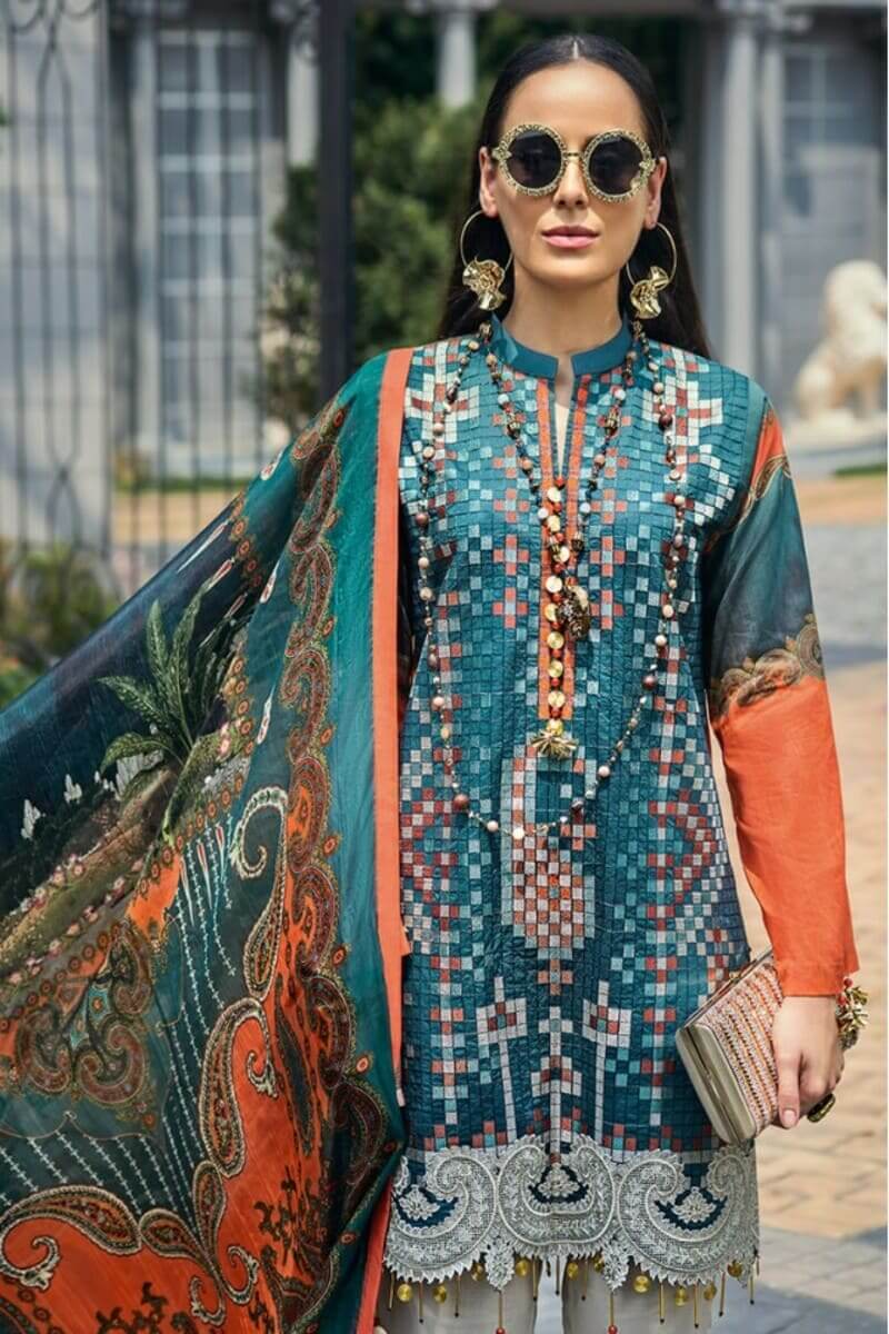 AUJ Fleur De Luxe Luxury Collection 2020 Pakistani Suits D-06