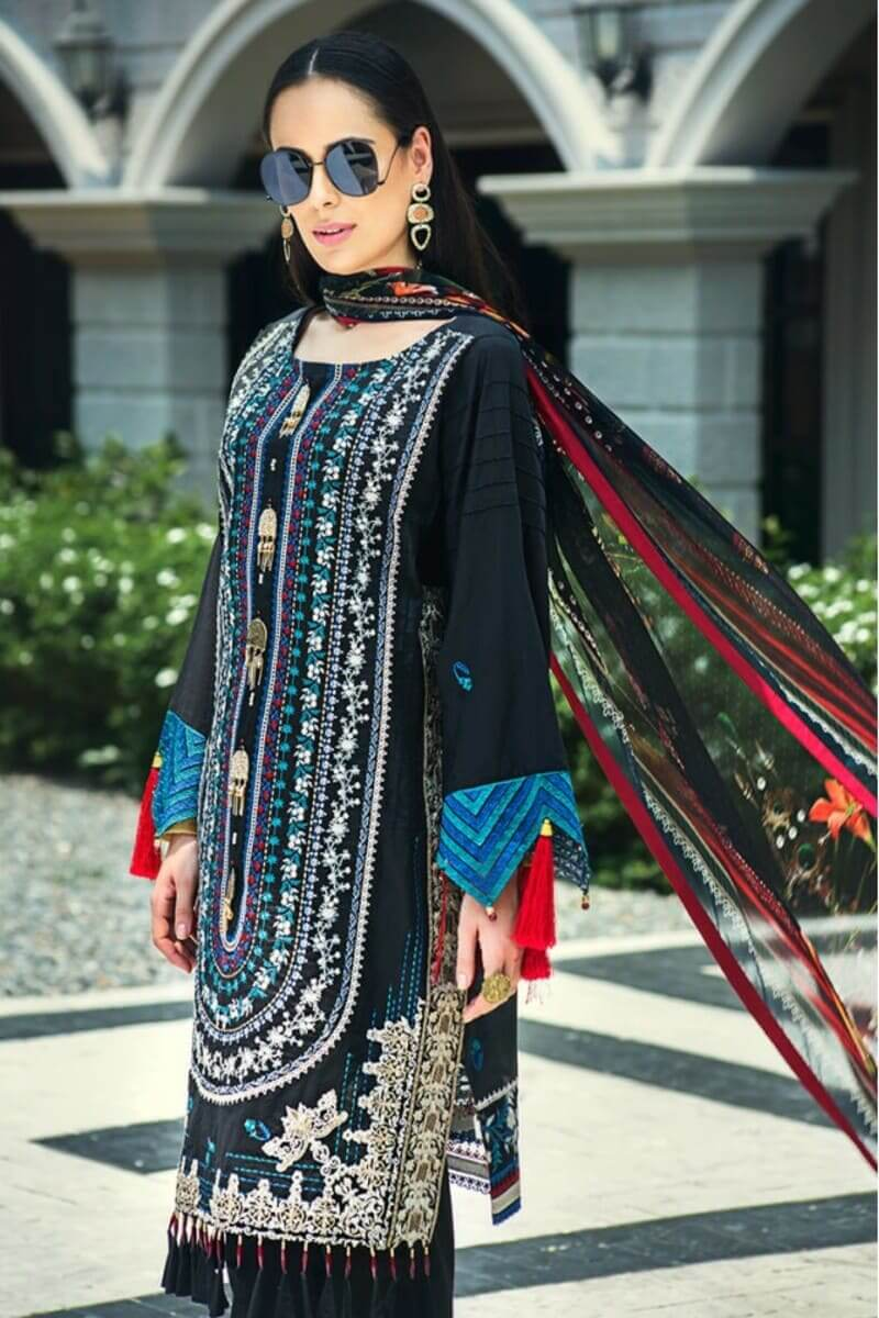 AUJ Fleur De Luxe Luxury Collection 2020 Pakistani Suits D-07