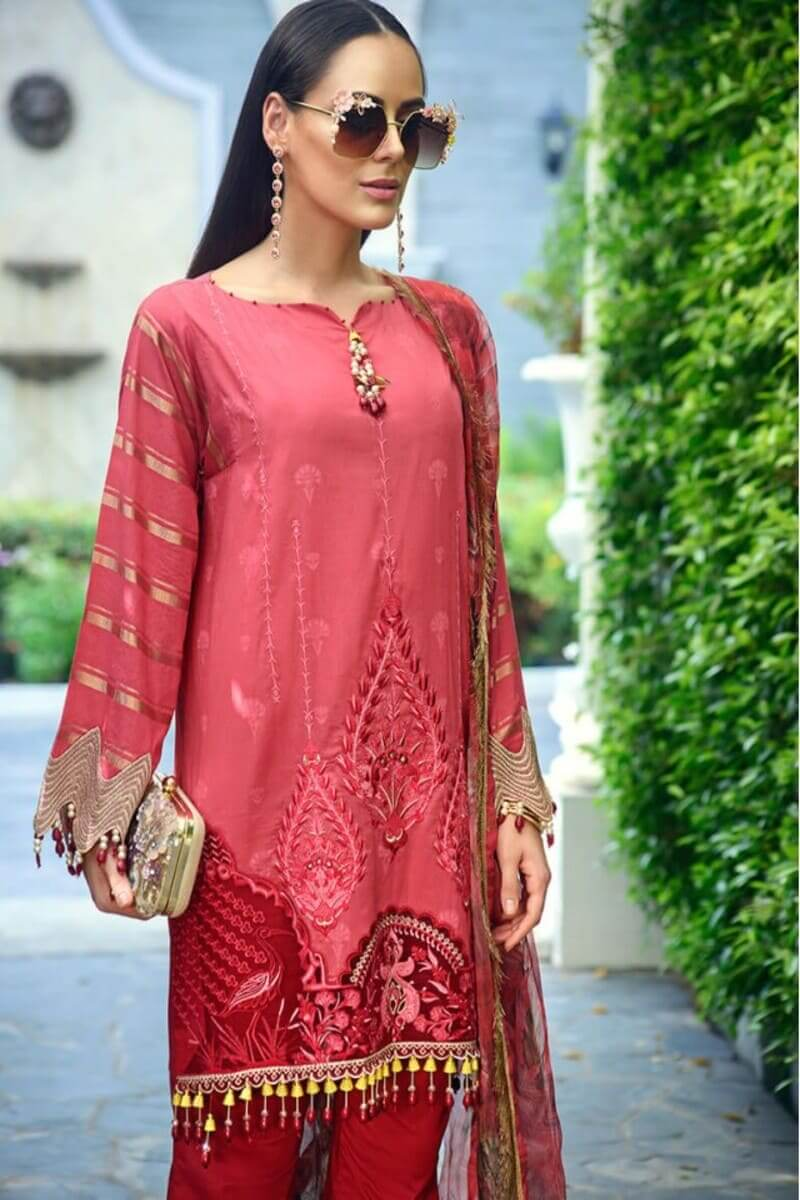 AUJ Fleur De Luxe Luxury Collection 2020 Pakistani Suits D-13
