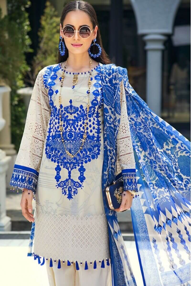 AUJ Fleur De Luxe Luxury Collection 2020 Pakistani Suits D-14