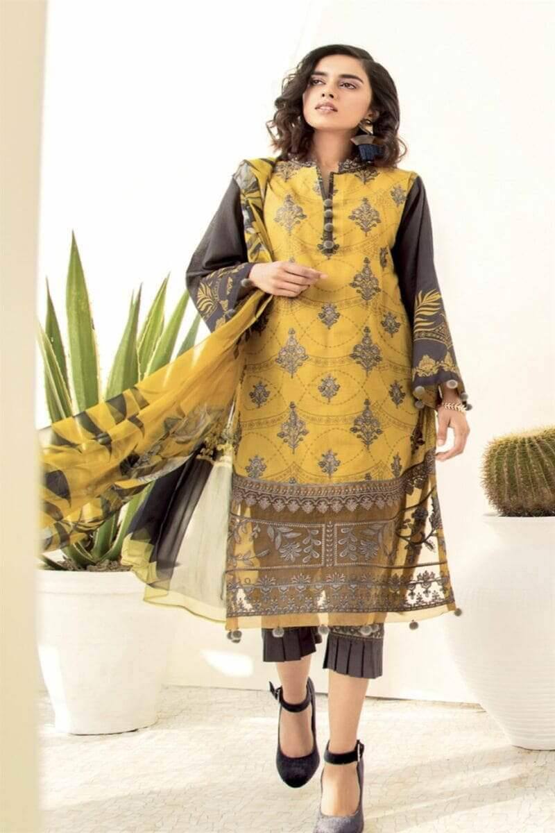 Chinon Lawn 2020 By Iznik Pakistani Salwar Kameez CL20-05 Lemonade