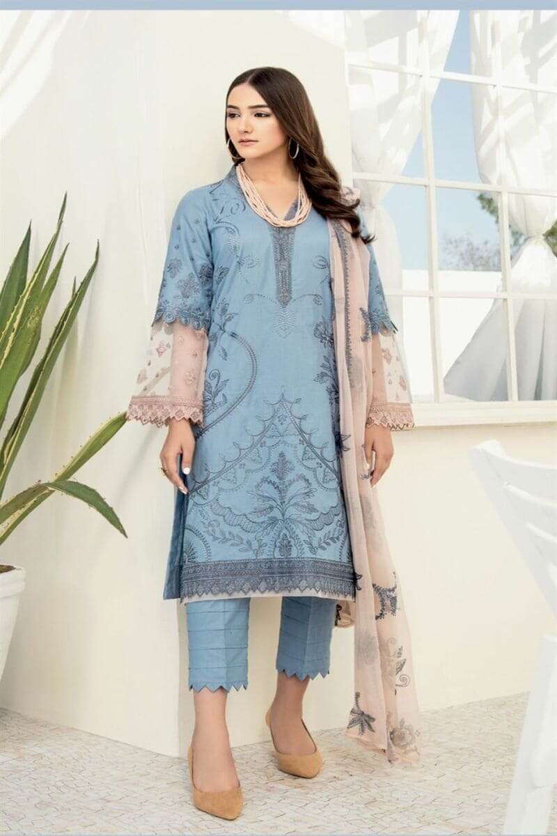 Chinon Lawn 2020 By Iznik Pakistani Salwar Kameez CL20-08 Poolside