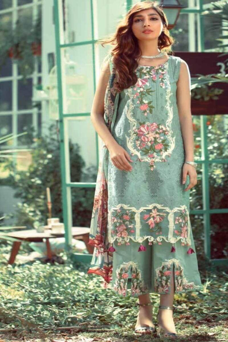 Elaf Summer Luxury Lawn Collection 2020 Pakistani Salwar Kameez D-09