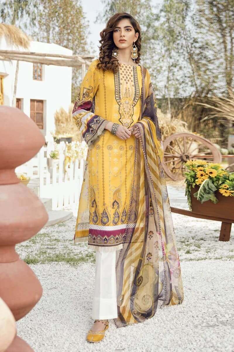 Iznik Guzel Lawn Collection 2020 Designer Suits GL20-02 Midday Glow