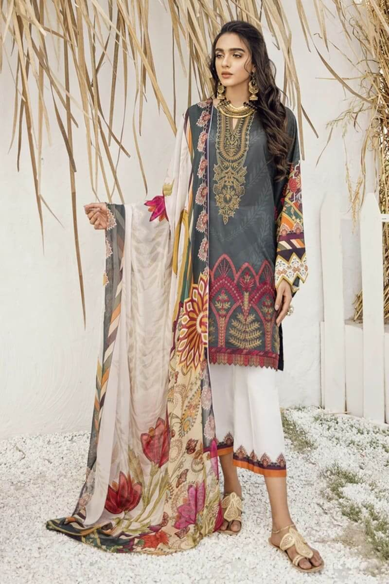 Iznik Guzel Lawn Collection 2020 Designer Suits GL20-03 Rustic Rarity