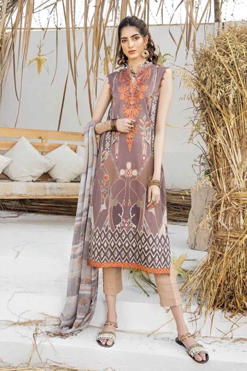 Iznik Guzel Lawn Collection 2020 Designer Suits GL20-08 Beach House
