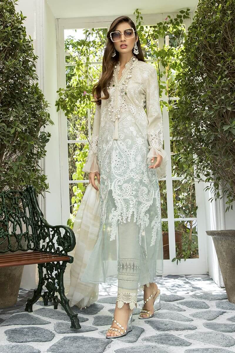 Maria B Lawn Eid Collection 2020 Pakistani Suits EL-20-01