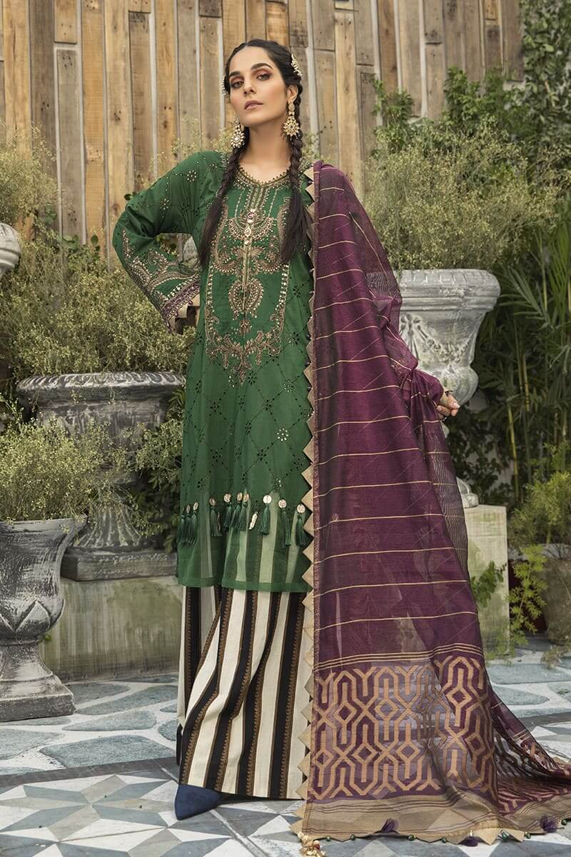 Maria B Lawn Eid Collection 2020 Pakistani Suits EL-20-07