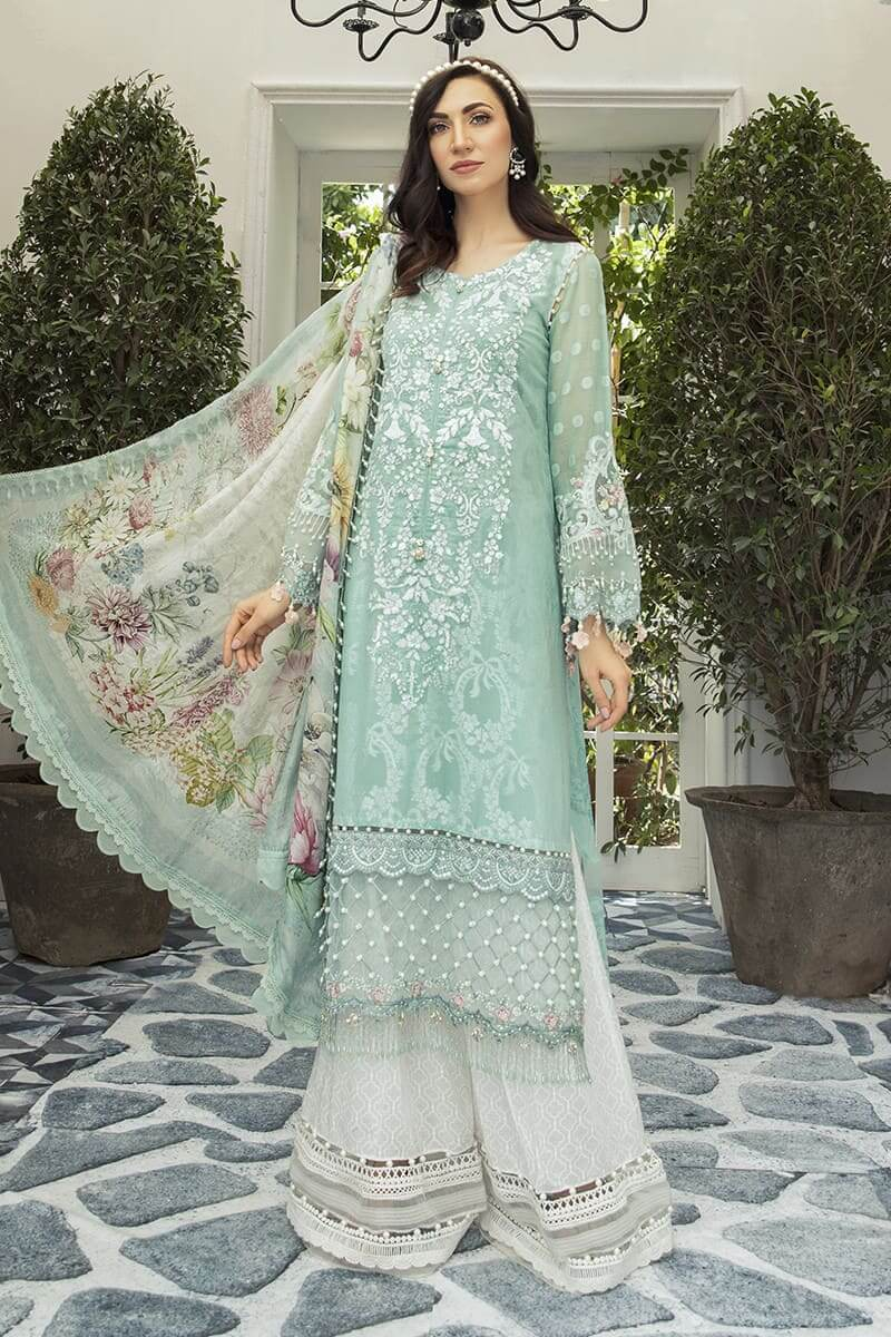 Maria B Lawn Eid Collection 2020 Pakistani Suits EL-20-08