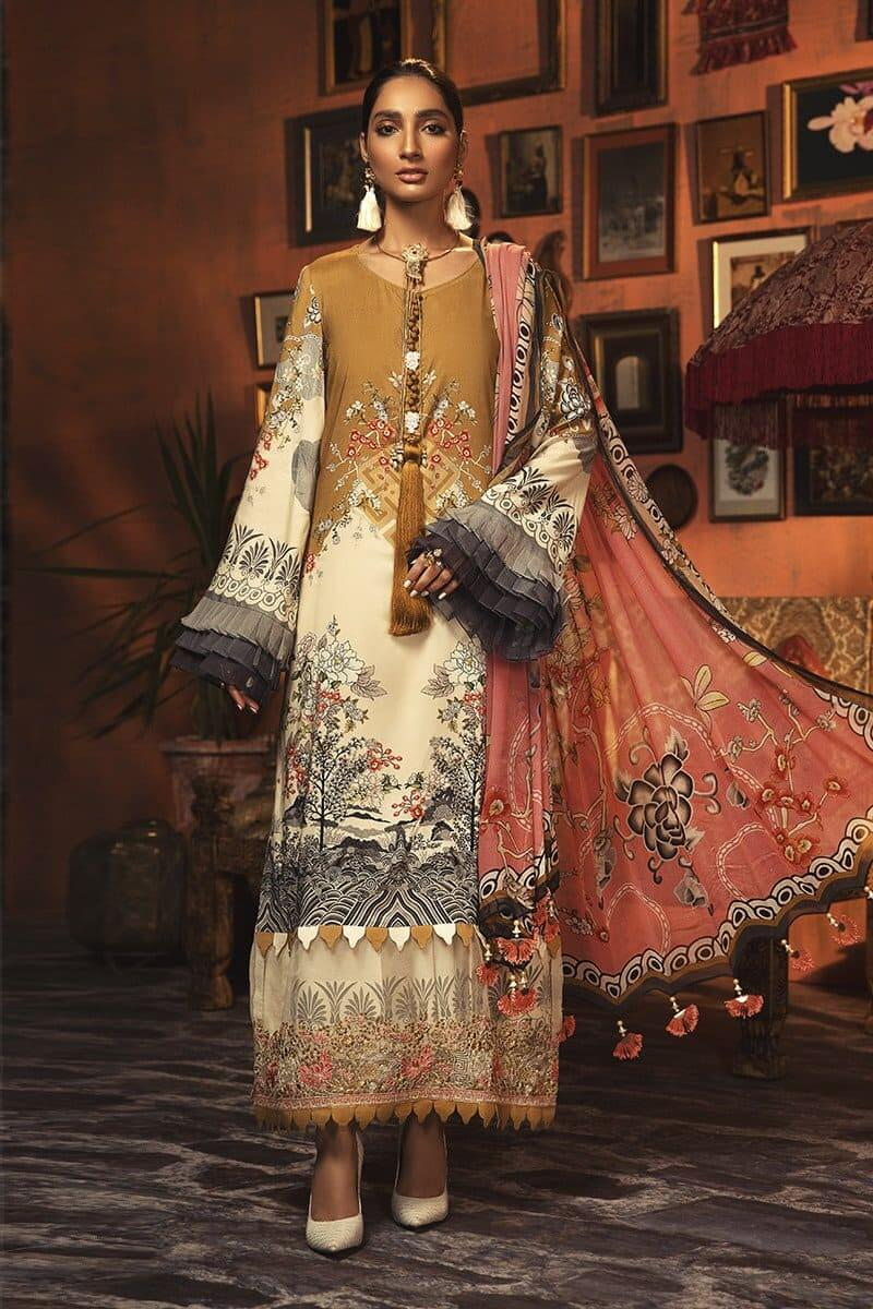 MARIAB MPrints Winter Collection 2020 Pakistani Suits MPT-901-A