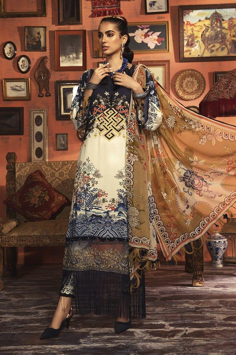 MARIAB MPrints Winter Collection 2020 Pakistani Dresses MPT-901-B