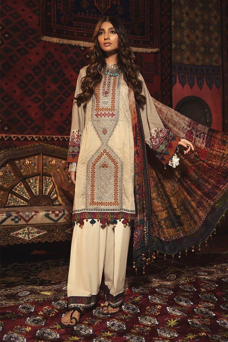 MARIAB MPrints Winter Collection 2020 Pakistani Suits MPT-902-A