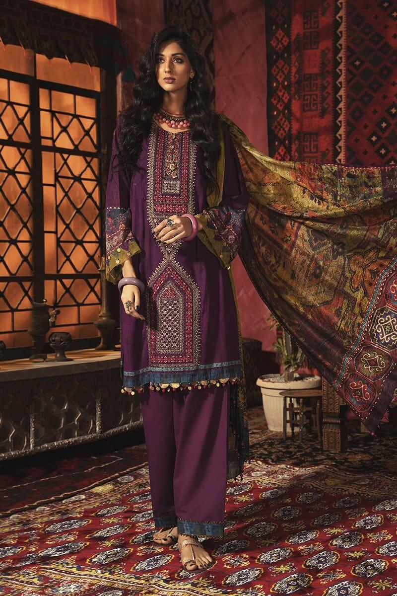 MARIAB MPrints Winter Collection 2020 Pakistani Dresses MPT-902-B