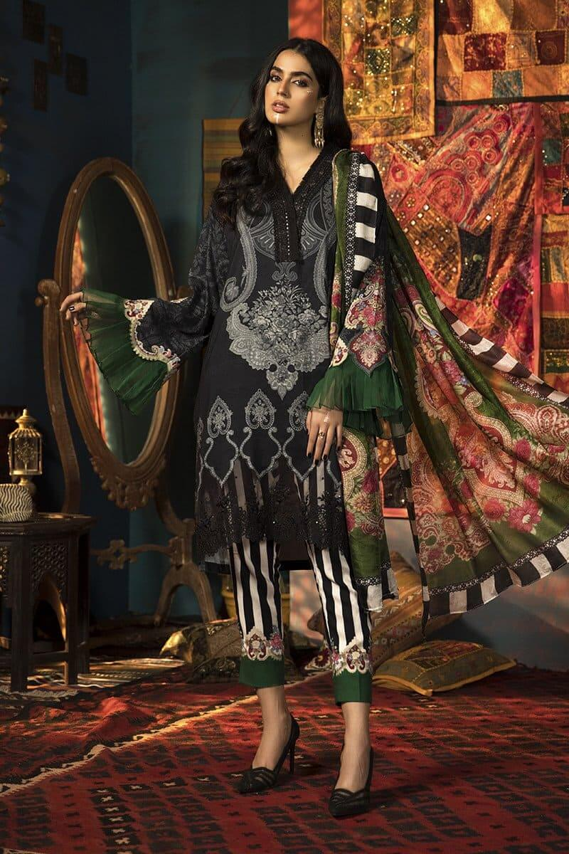 MARIAB MPrints Winter Collection 2020 Pakistani Dresses MPT-905-B