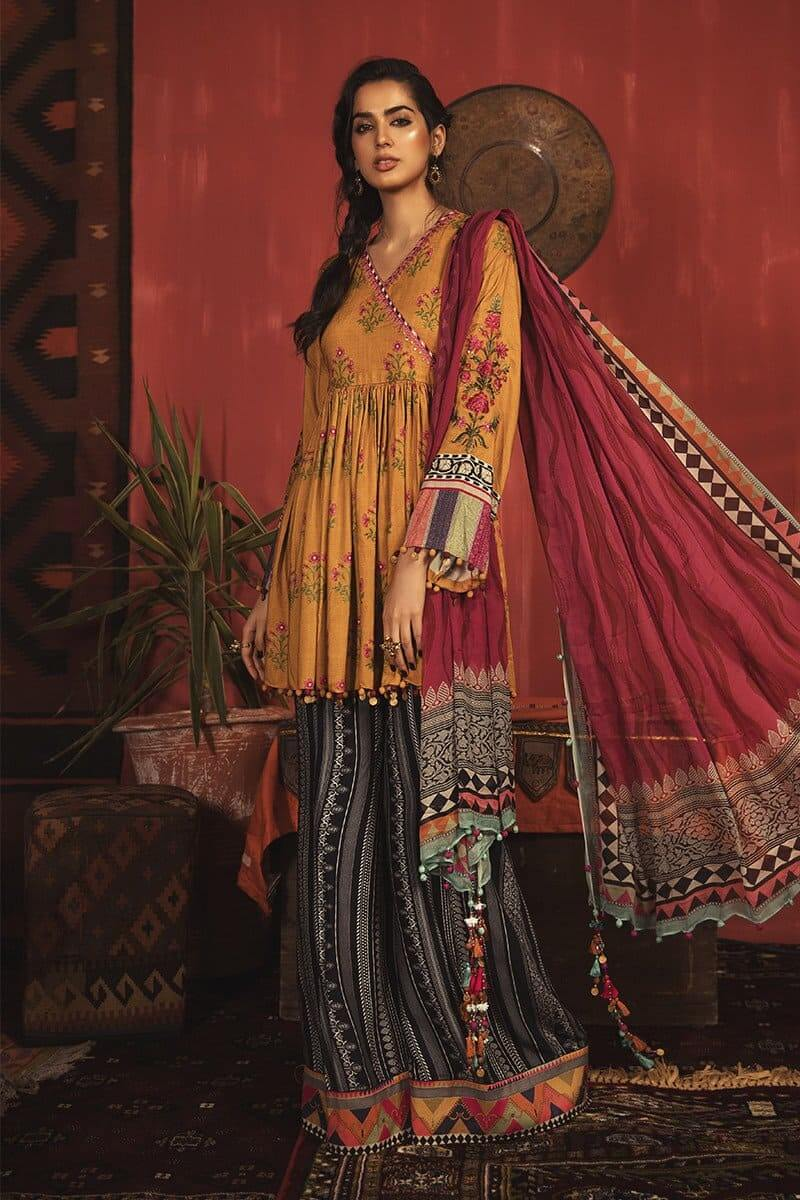MARIAB MPrints Winter Collection 2020 Pakistani Suits MPT-908-A