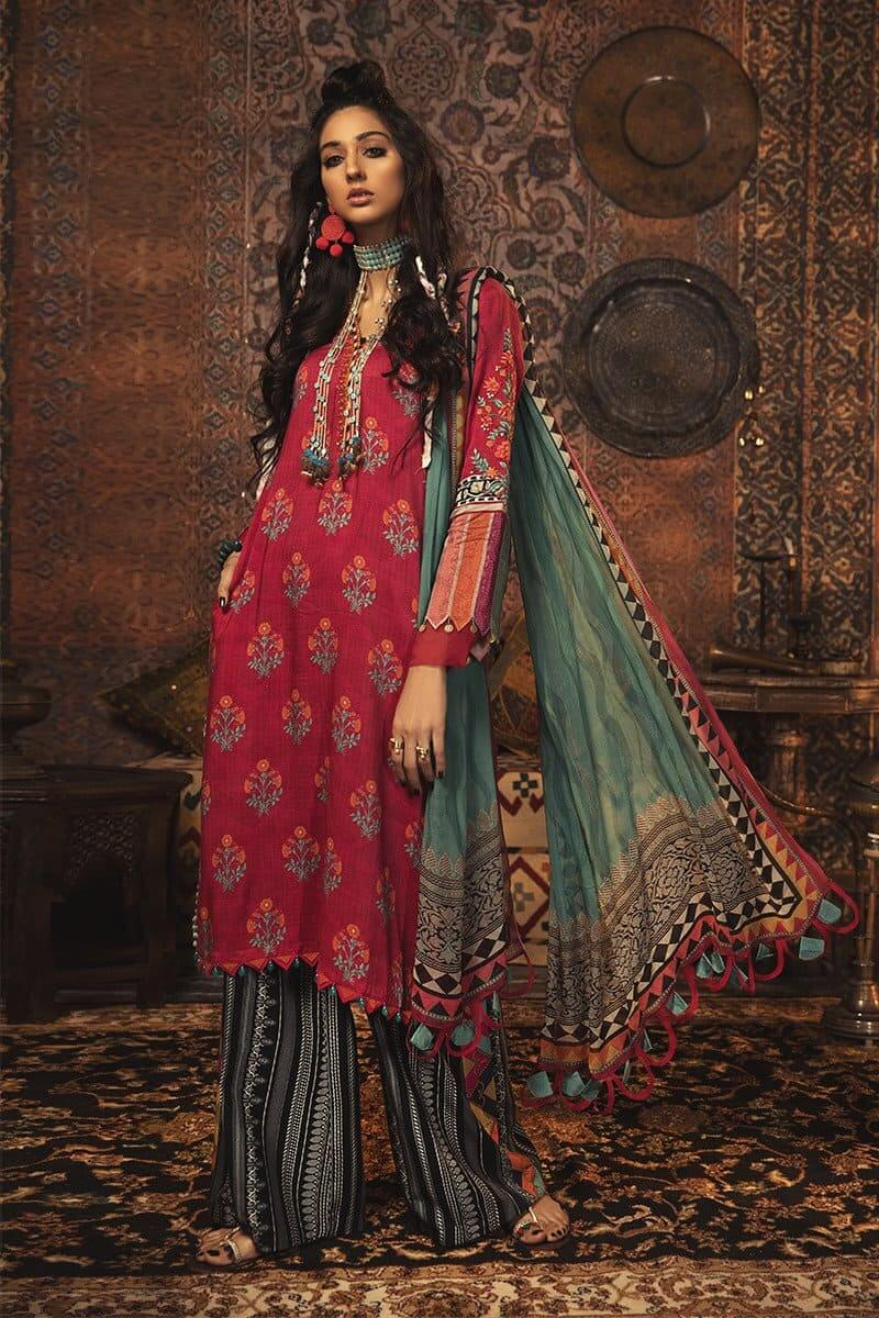 MARIAB MPrints Winter Collection 2020 Pakistani Dresses MPT-908-B