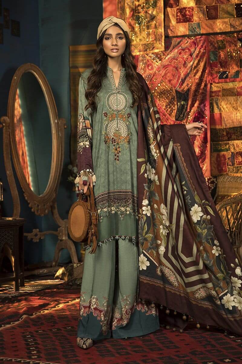 MARIAB MPrints Winter Collection 2020 Pakistani Suits MPT-910-A