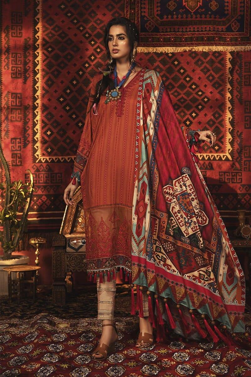 MARIAB MPrints Winter Collection 2020 Pakistani Suits MPT-911-A