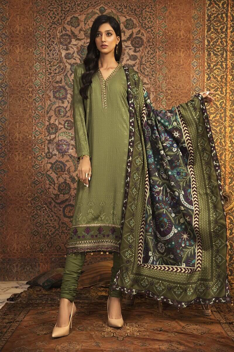 MARIAB MPrints Winter Collection 2020 Pakistani Suits MPT-912-A