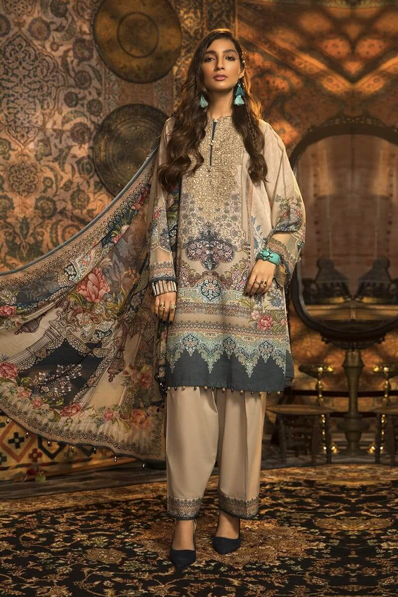 MARIAB MPrints Winter Collection 2020 Pakistani Suits MPT-914-A