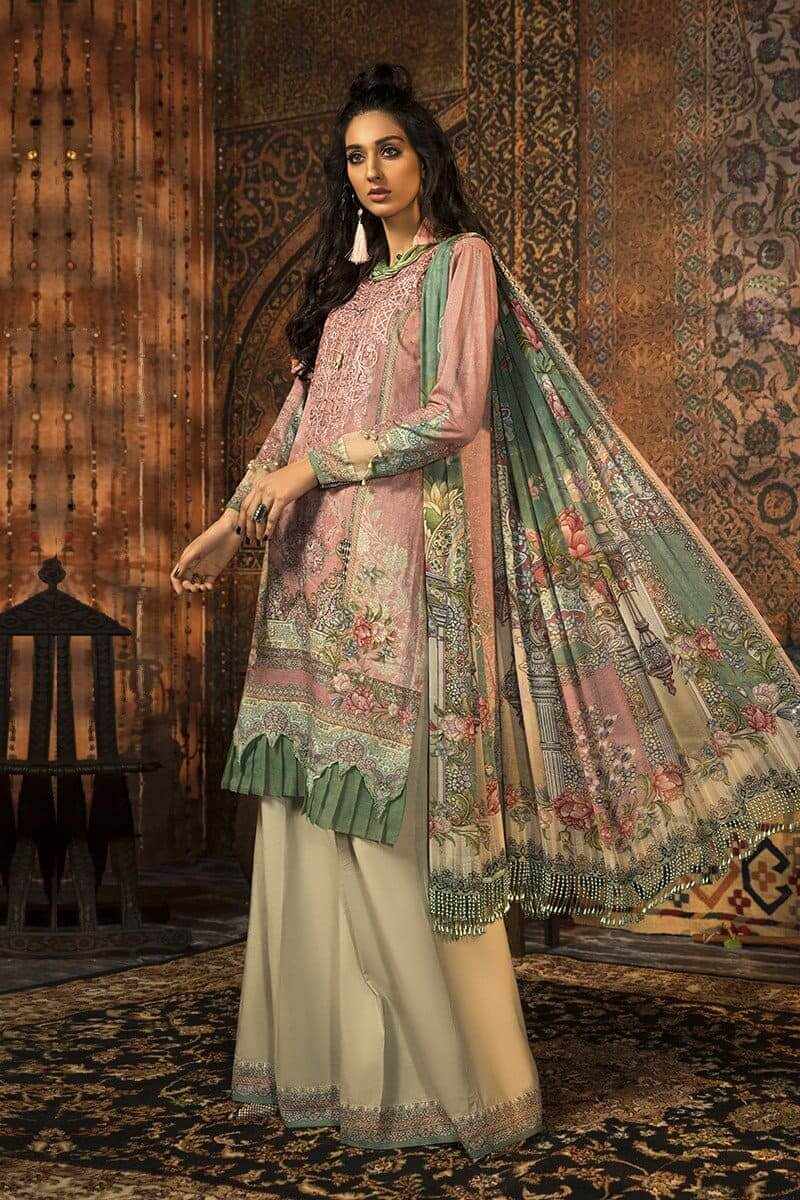 MARIAB MPrints Winter Collection 2020 Pakistani Dresses MPT-914-B