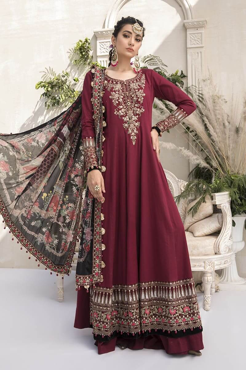 MariaB Sateen Fall Winter Collection 2020 Pakistani Suits CST-307