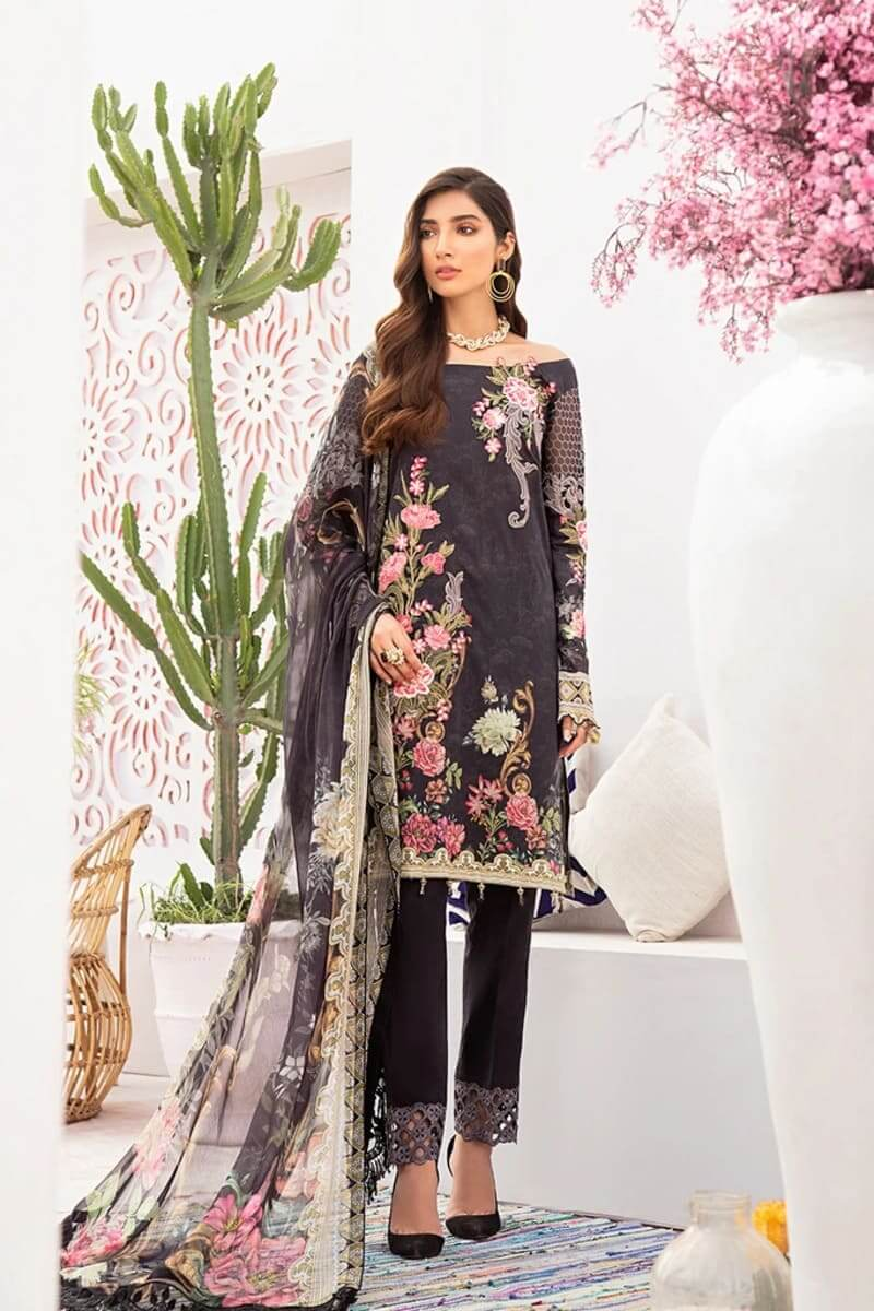 Ramsha Chevron Luxury Lawn Vol 3 Designer Pakistani Suits C-305