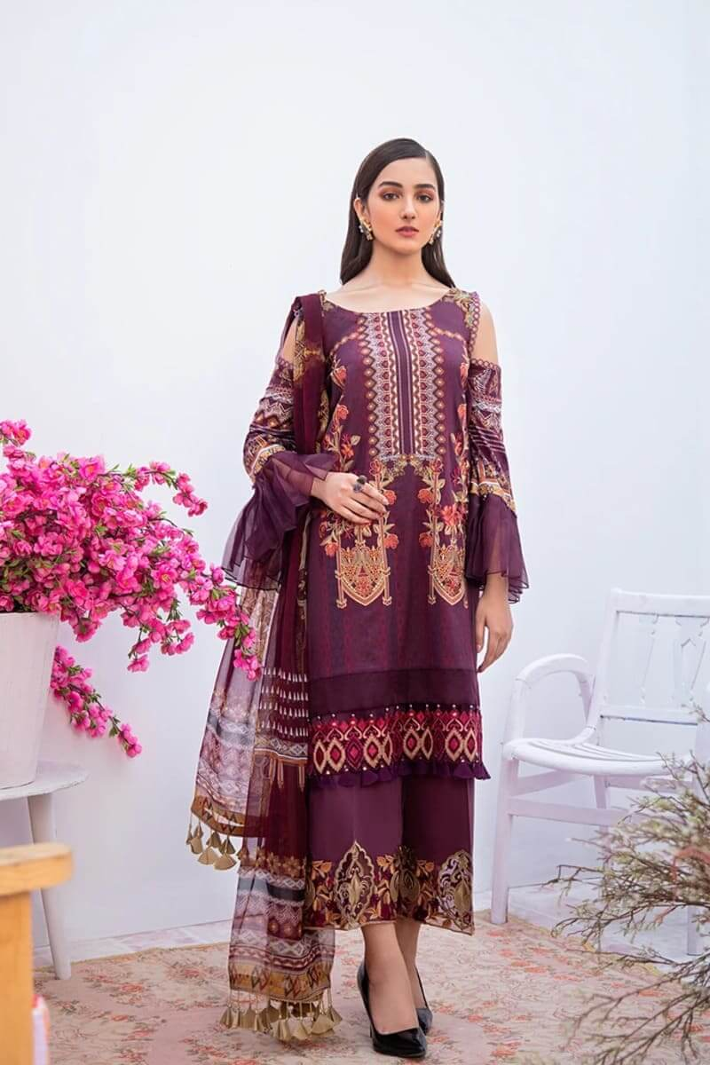 Ramsha Chevron Luxury Lawn Vol 3 Designer Pakistani Suits C-308
