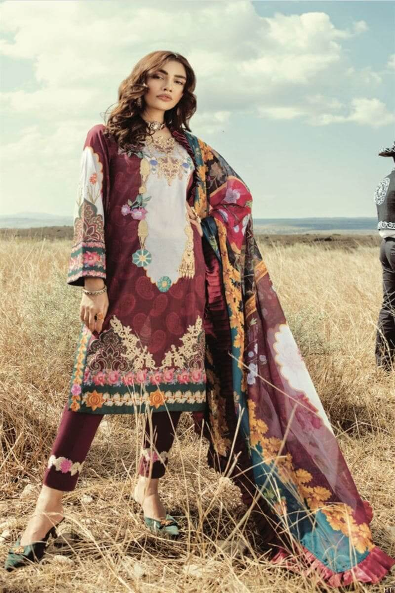 Rouche Luxury Signature Summer Lawn Collection 2020 Pakistani Suits 01