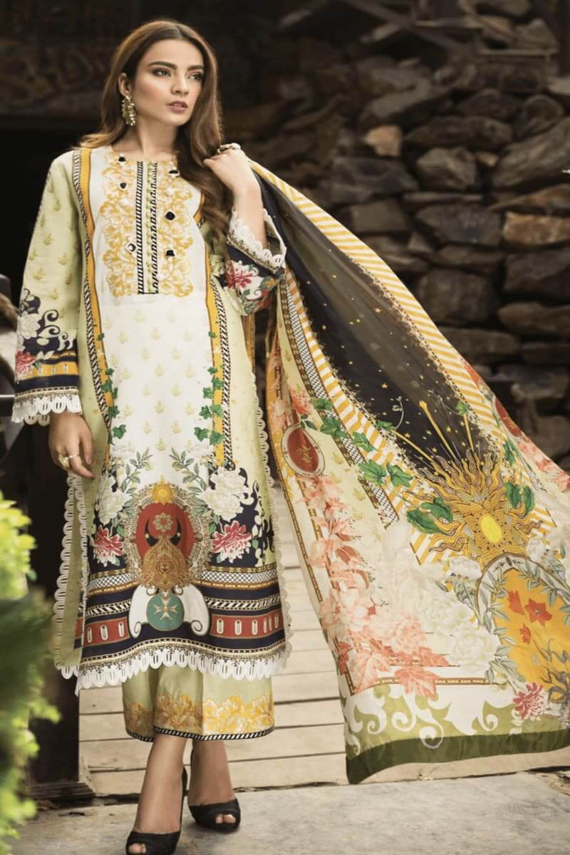 Pakistani Suits Afrozeh Sienna Lawn Collection 2020 07 Anne Lace