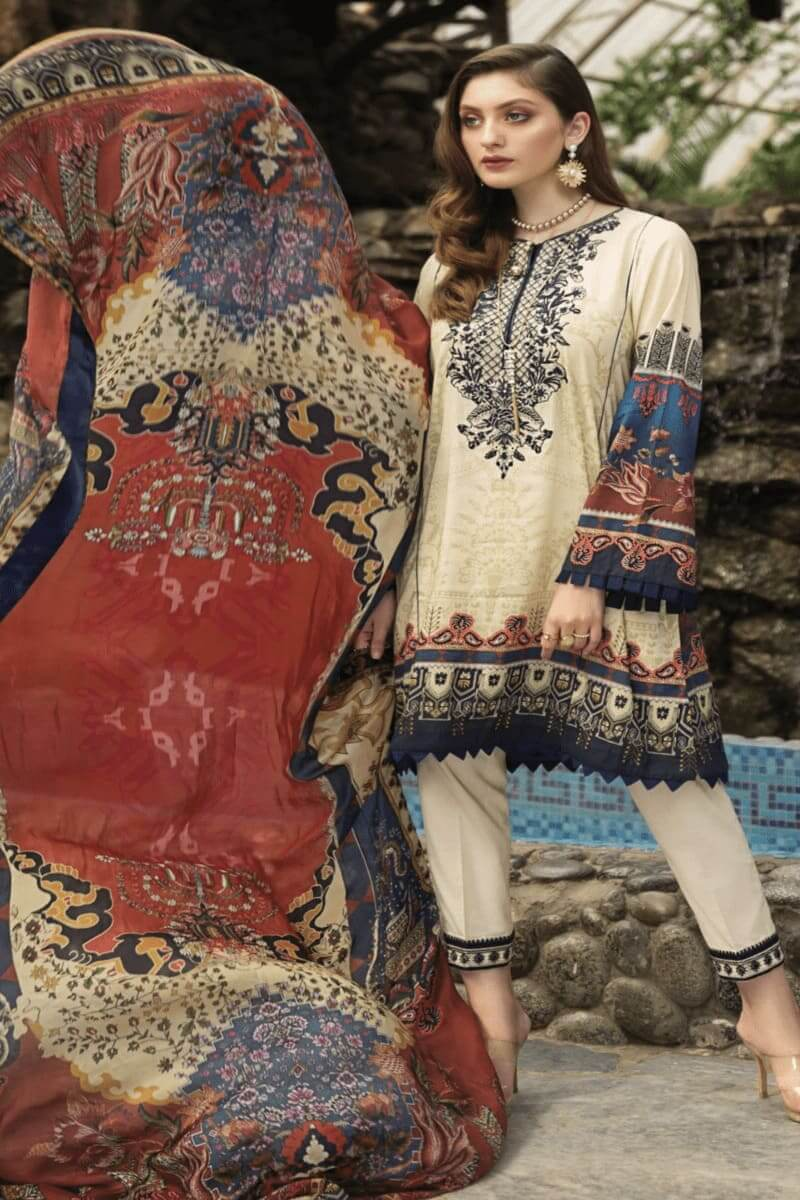 Pakistani Suits Afrozeh Sienna Lawn Collection 2020 10 Stargazer