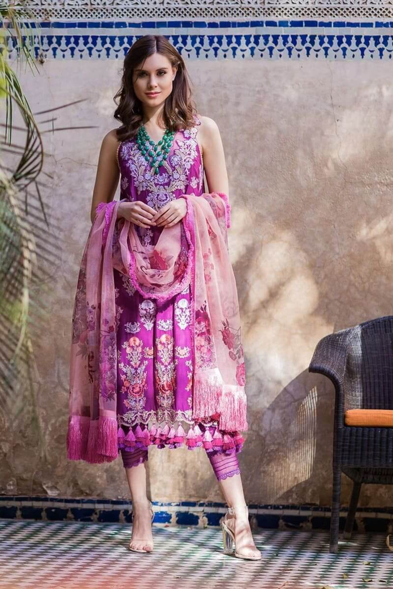 Sobia Nazir Luxury Lawn 2020 Designer Salwar Suits DESIGN 7B