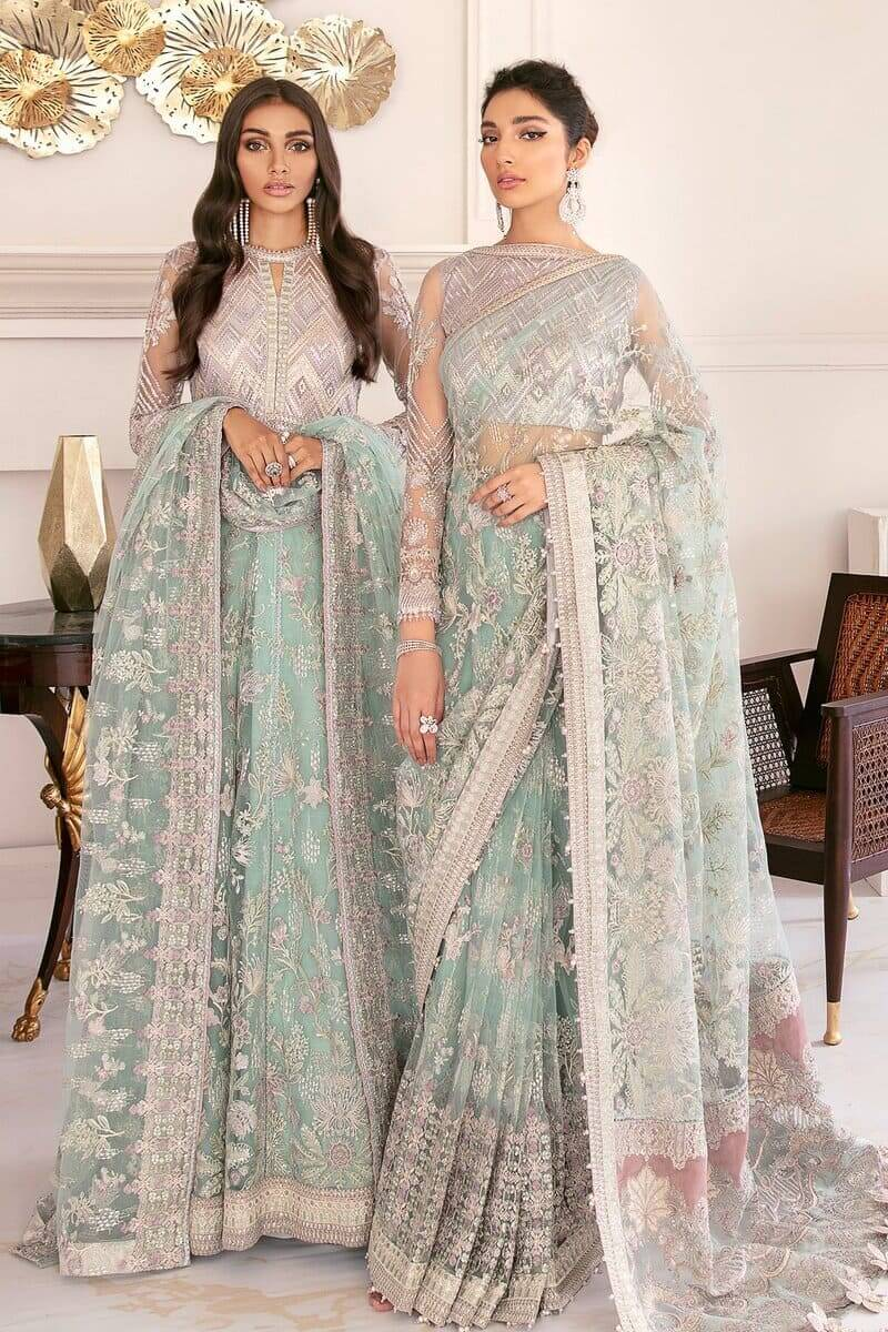 Baroque Chantelle Vol 8 Pakistani Suits 10-Swiss Topaz
